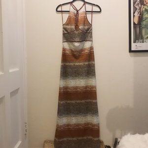Free people sleeveless/racer back maxi dress